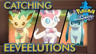 Leafeon  - (Pokémon) - Pokémon Sword & Shield - How to Catch All Eeveelutions (Sylveon, Leafeon, Glaceon & More)