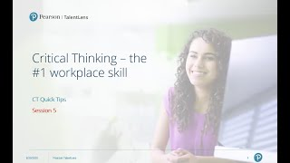 Critical Thinking Quick Tips - Session 5: Types of Thinking