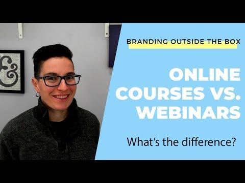 Online Course vs. Webinar - YouTube