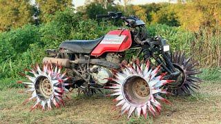 Fourwheeler on REAPER WHEELS literally Tills Dirt