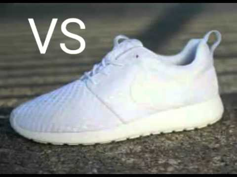 Nike rosche run weiß vs schwarz vs rot
