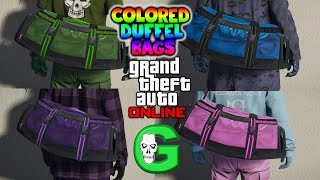 COLORED DUFFEL BAGS GLITCH GTA5 ONLINE (Get Any Color Duffel Bag Glitch) PS4 ONLY