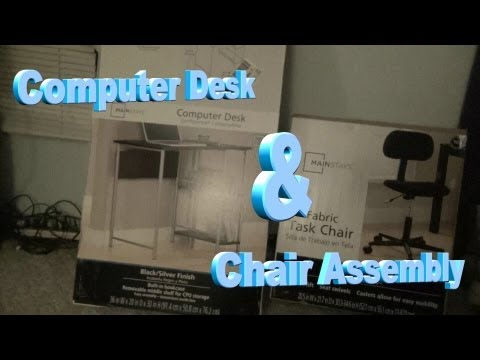 Computer Desk & Chair Assembly