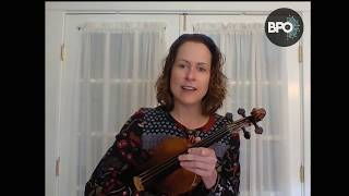 VIOLIN: Two octave scales with Amy Glidden