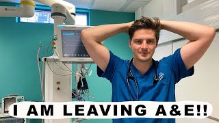 I am leaving A&E. Dr Alex on changing career.