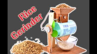 How to Make a Rice Grinder Model, You Can Make it at Home