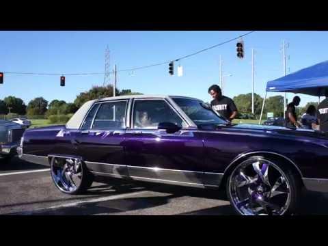 "Candy Purple Pontiac Parisienne on 28"" Forgiato Wheels"