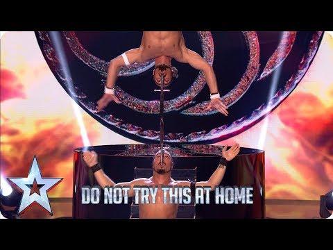 Vardanyan Brothers' DEATH-DEFYING sword show   Semi-Finals   BGT 2019 (видео)
