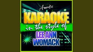 The King of Broken Hearts (In the Style of Lee Ann Womack) (Karaoke Version)