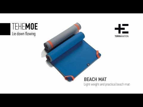 The Tehe Moe beach mat by Terra Nation in action