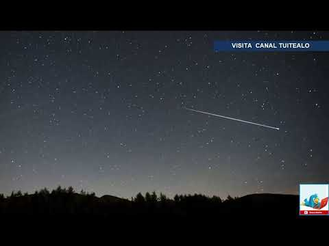 Este domingo habrá lluvia de estrellas por el paso del cometa Halley