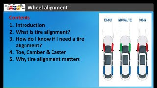 Basic Understanding of Wheel Alignment