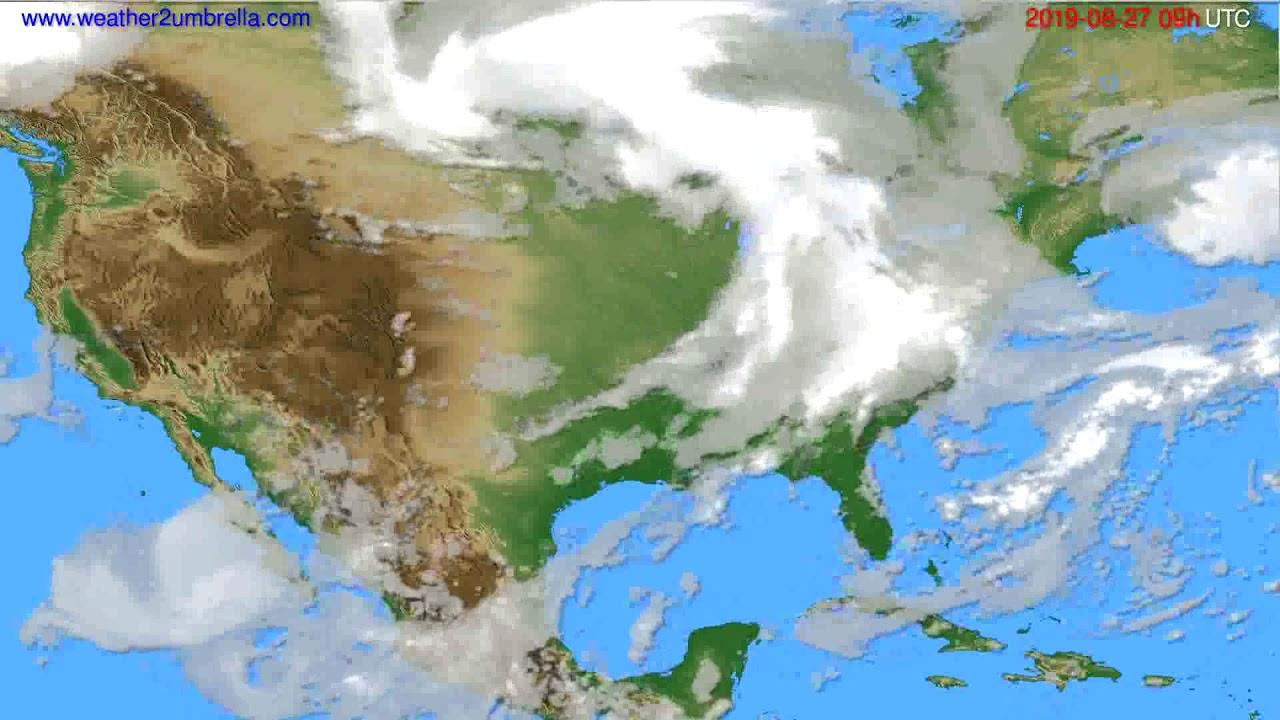 Cloud forecast USA & Canada // modelrun: 12h UTC 2019-08-25