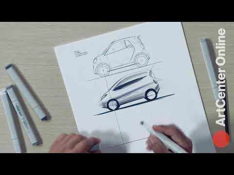 Professional Car Design: Sketching a City Car
