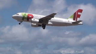 TAP A320 GO AROUND and WINDY LANDINGS in Madeira Airport