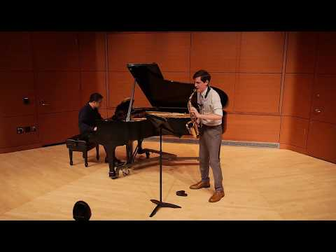 This is a video from my second master's recital performing William Albright's Sonata for alto saxophone.