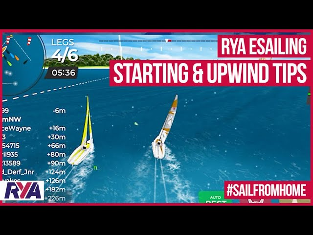 RYA eSailing VR Coaching - Starting & Upwind Top Tips with Adam McGovern