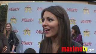 Виктория Джастис, VICTORIA JUSTICE Interview at VARIETY'S 3rd Annual POWER OF YOUTH Event