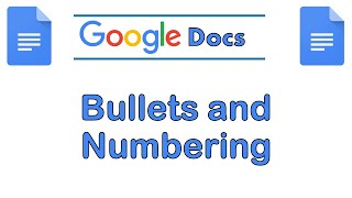 Google Docs: Bullets and Numbering Tutorial