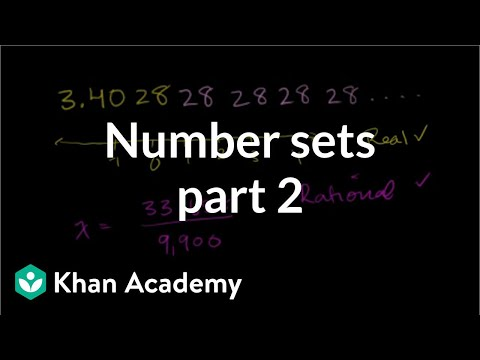 Worked example: classifying numbers (video) | Khan Academy