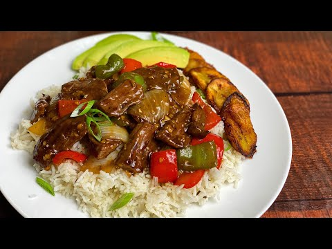 Easy Caribbean Pepper Steak Recipe, Tasty and Delicious || LET'S COOK WITH ME || TERRI-ANN'S KITCHEN
