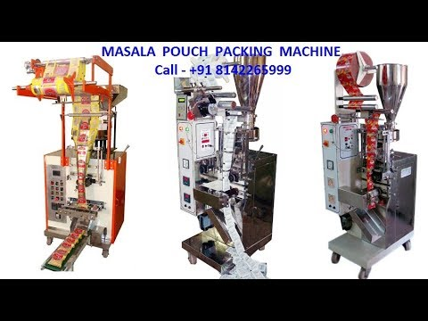 Spices Pouch Packaging Machines 10-50Gram (Mechanical)