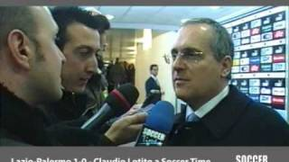 preview picture of video 'LOTITO A SOCCER TIME E IL MERCATO DI GENNAIO DELLA LAZIO'