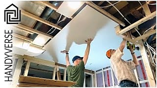 Hanging Drywall Tips And Tricks - Laundry Room Makeover: Part 5