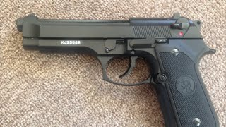 KJW M9 Beretta Gas Blow Back Airsoft Pistol Review!