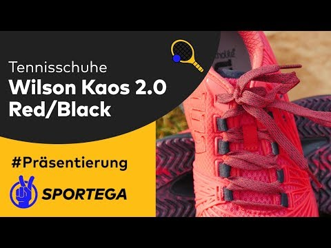 Damen Tennisschuhe Wilson Kaos 2 0 Red/Black