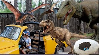 ПАРК ДИНОЗАВРОВ /СМЕЛОДОН и ПЕРВОБЫТНЫЕ ЛЮДИ. Контактный ЗООПАРК в Динопарке. The Best of Dinosaurs.