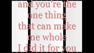 David Cook- I did it for you.