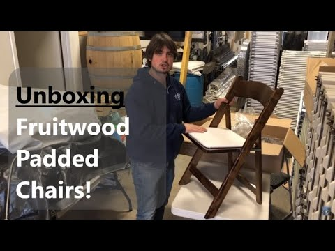 Unboxing Fruitwood Padded Chairs - Growing Event Rental Business