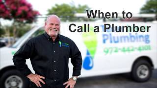 Plumbing | When Should I Call A Plumber? | The Expert Plumber