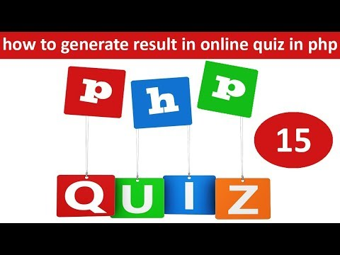 how to generate result in online quiz in php