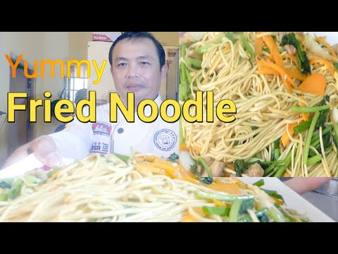 Yummy Fried Noodle/Easy Fried Noodle/Cooking Recipe : Chef Sokphal