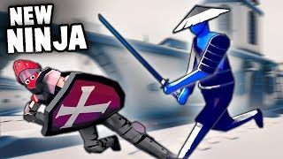 TABS New NINJA Samurai vs KNIGHTS (Totally Accurate Battle Simulator New Units)