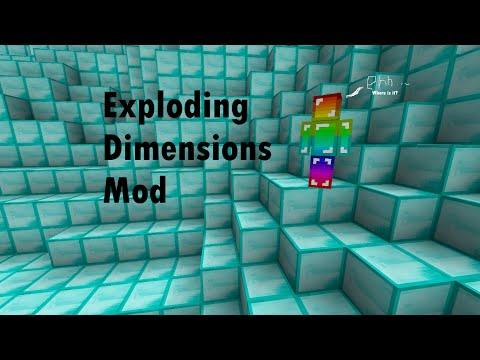 Minecraft mod spotlight - Exploding Dimensions Mod!