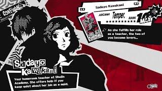 Persona 5 (PS4) - Max Confidant Rank Guide for Temperance Arcana (Sadayo Kawakami - Lovers Route)