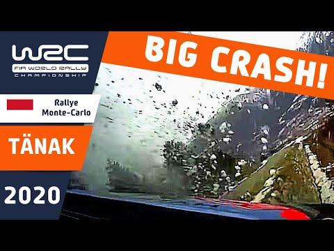 タナックが大クラッシュ WRCラリーモンテカルロ タナッククラッシュの一部始終を捉えた衝撃動画