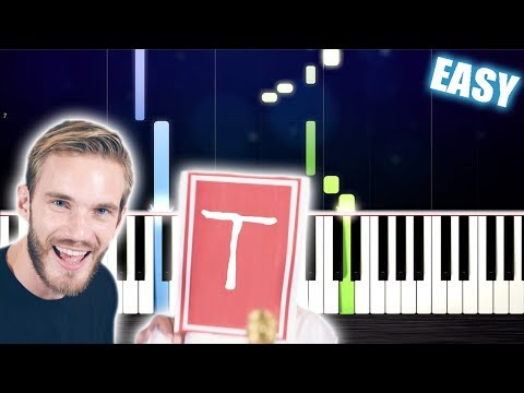 Pewdiepie - Congratulations - EASY Piano Tutorial by PlutaX