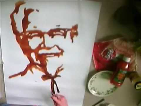 Painting With Chocolate and Ketchup