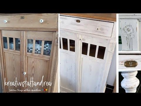 DIY - Shabby Chic | alte Möbel mit Kreidefarbe streichen | Tutorial