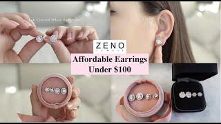 Affordable Earrings Under $100 | Zeno Jewels Lab Created Sapphire Vs. Diamond Comparison