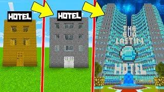 DE HOTEL NOOB A HOTEL PRO EN MINECRAFT CON KIRON Y TATITO | EL HOTEL MÁS ALTO DE MINECRAFT