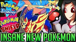 Giant Pokemon/Legendaries Revealed/New Pokemon/Raids + Wild Area - Pokemon Sword and Shield!