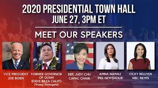 Live: APIA 2020 Virtual Presidential Town Hall | NBC News