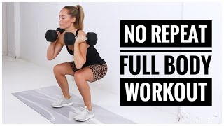 NO REPEAT Full Body Workout