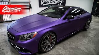 Watch Us Vinyl Wrap This Car! Mercedes Benz S63 AMG