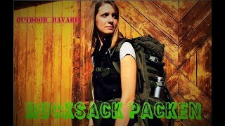 Ich packe meinen Rucksack für die Solotour - Outdoor Bavaria - Vanessa